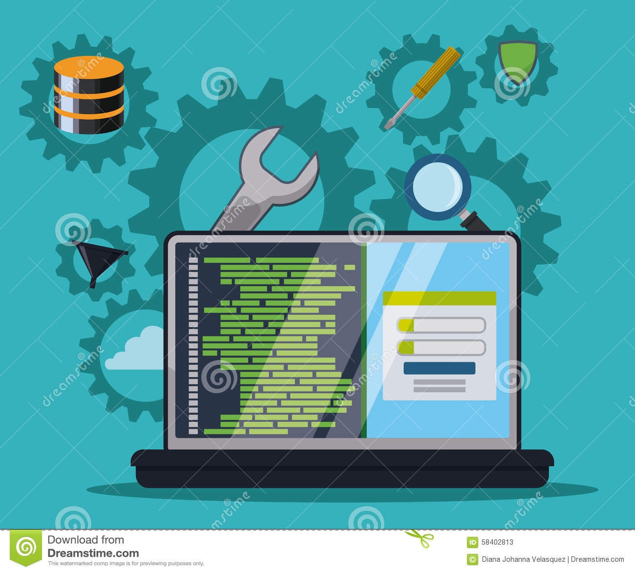 Software Design Stock Vector Image 58402813