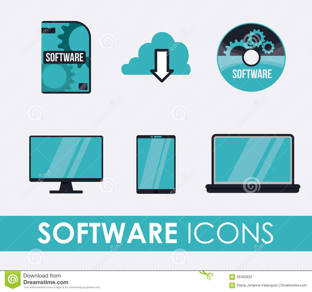 Software design stock vector image 58402822 Vector image software