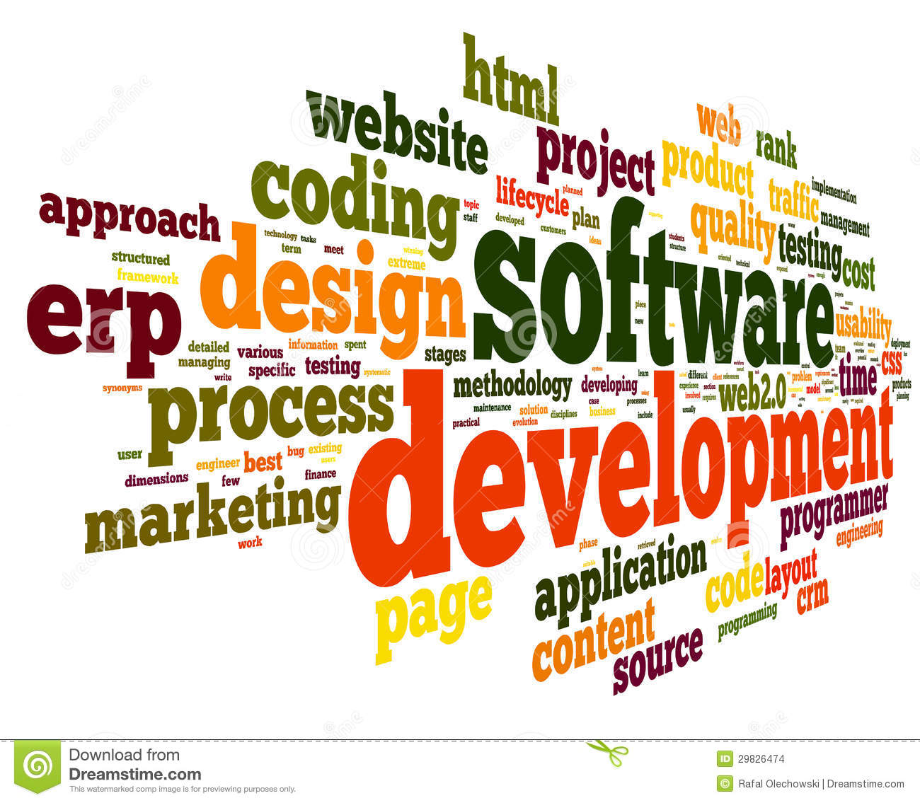 Software Development Concept In Tag Cloud Stock Images