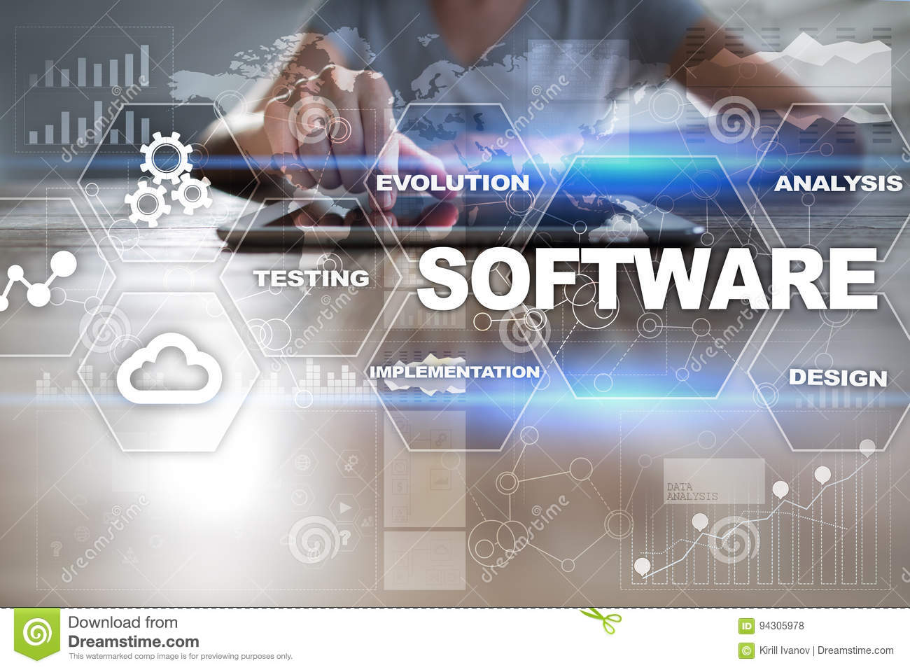 Download Software Development. Data Digital Programs System Technology Concept Stock Photo - Image of pressing, coding: 94305978