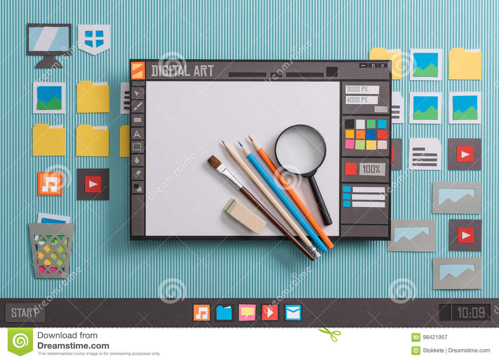 software di progettazione grafica immagine stock