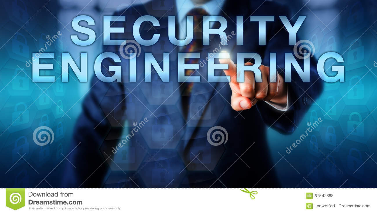 Software Engineer Touching Security Engineering Stock