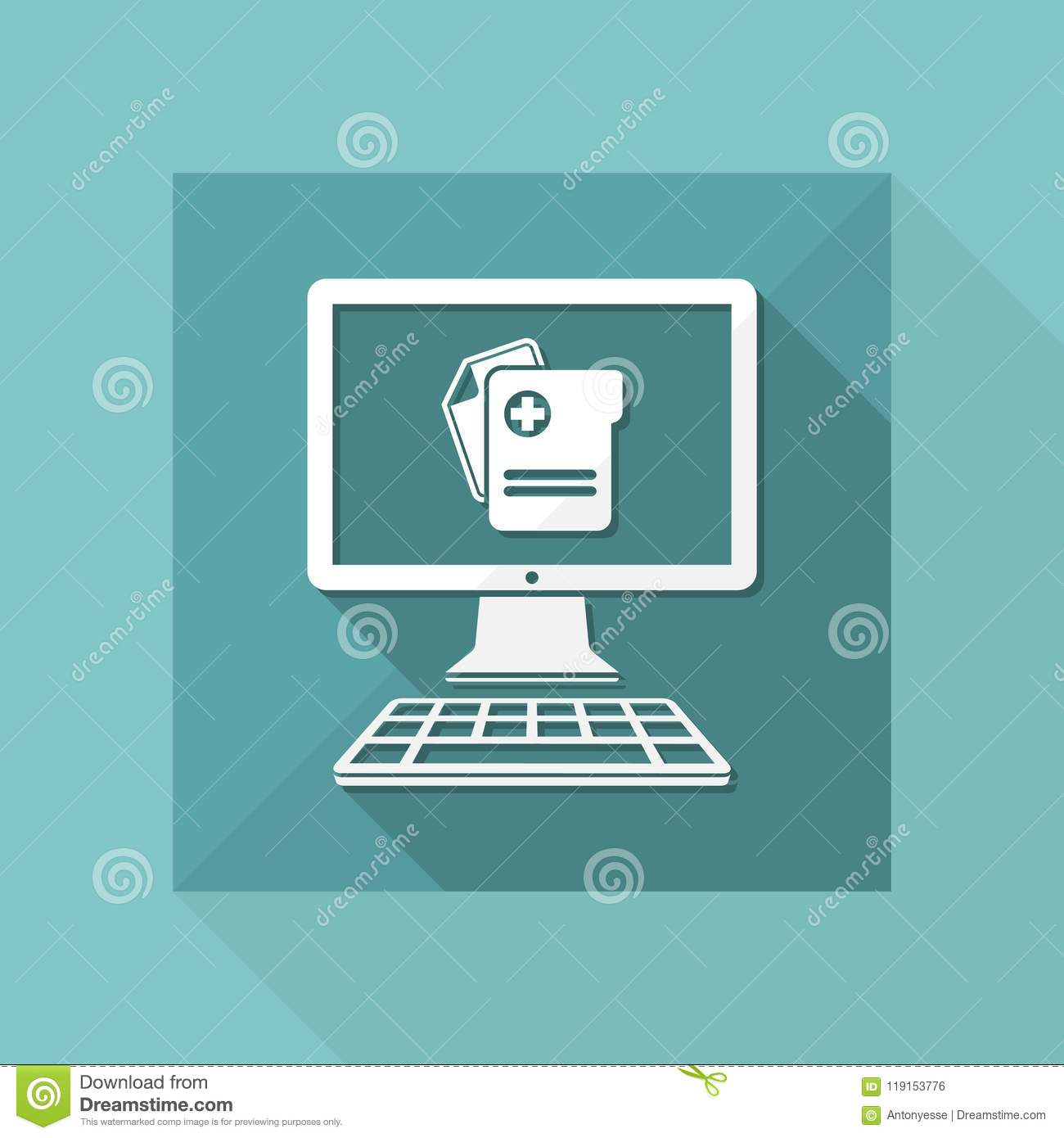 Software For Medical Activity Vector Flat Icon Stock Vector