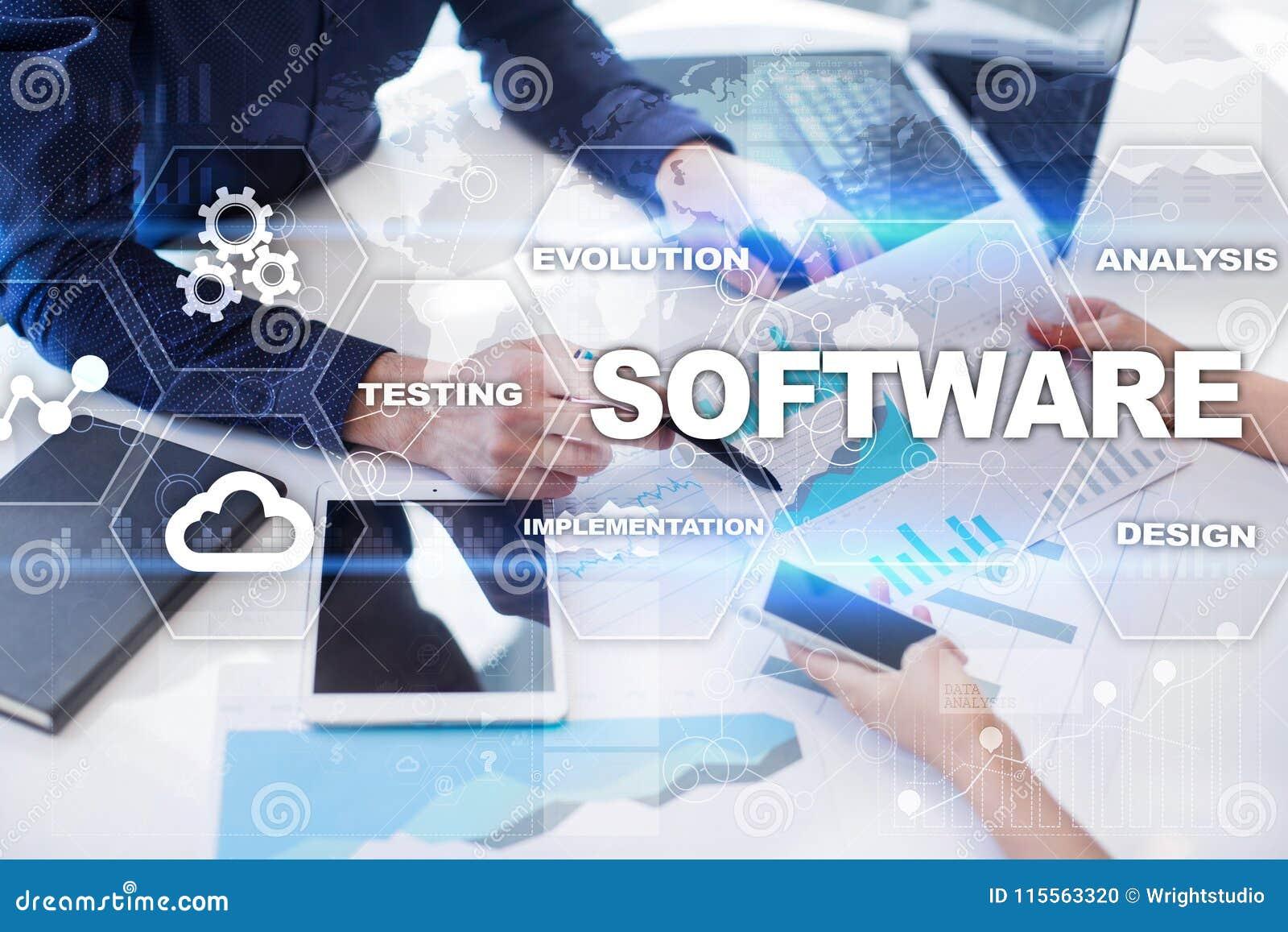 Software-ontwikkeling Concept van de het Systeemtechnologie van gegevens het Digitale Programma s