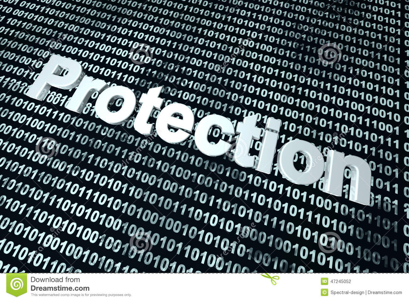 Software Protection Background Stock Illustration Image
