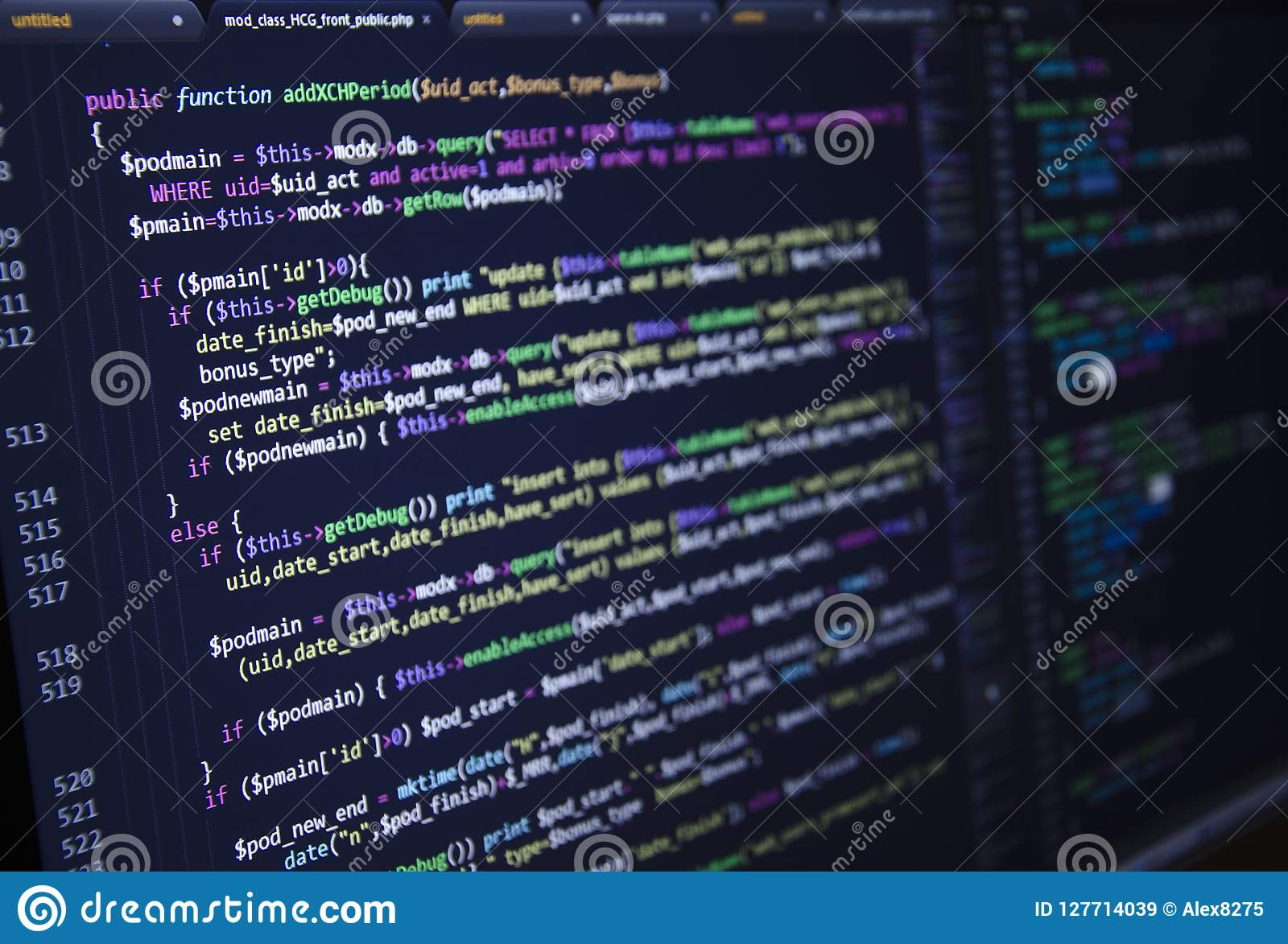 Software source code. Freeware open source project. Developing programming and coding technologies. Software source code. CSS, Jav