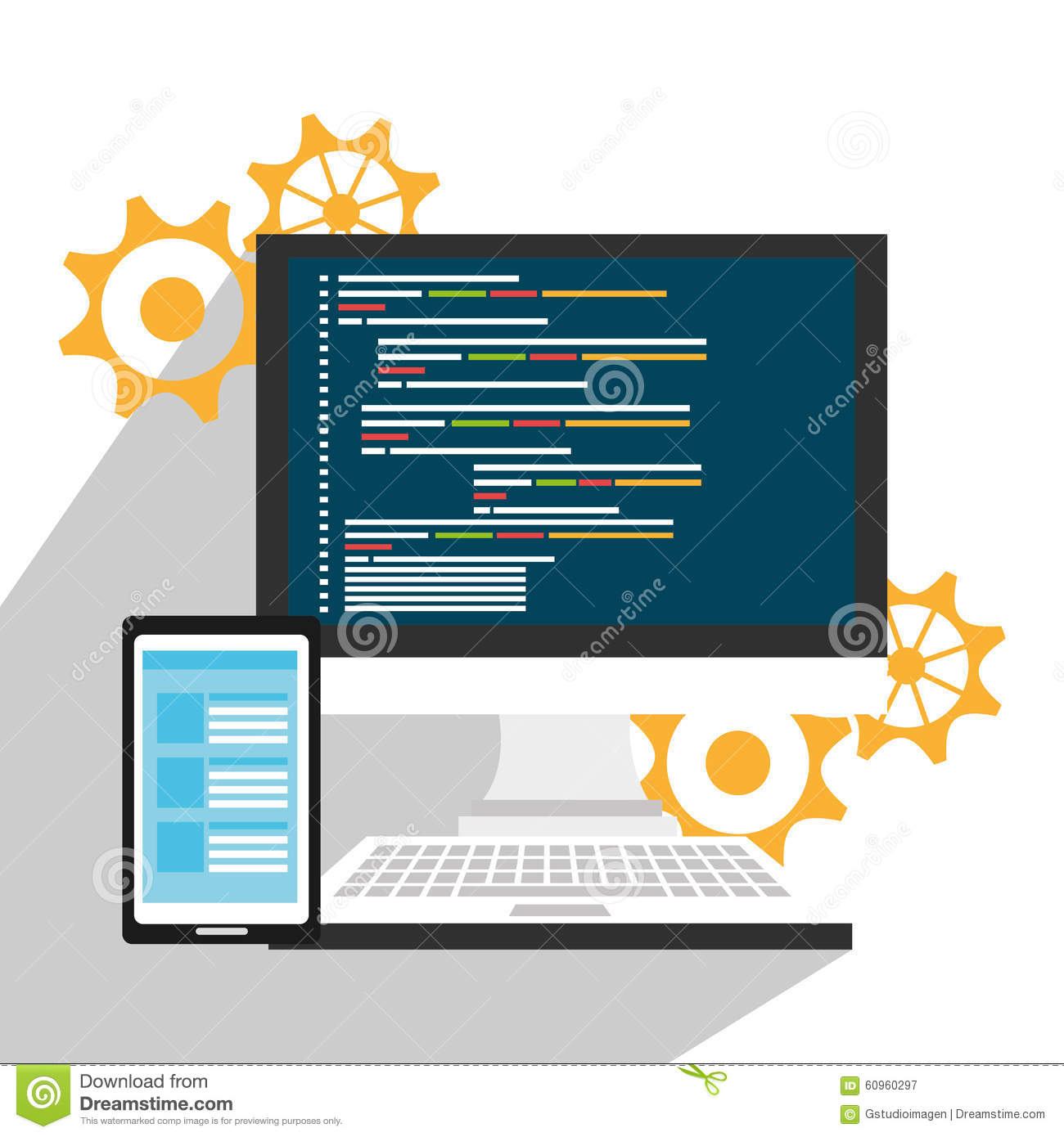 Software System Computer Stock Vector Image 60960297