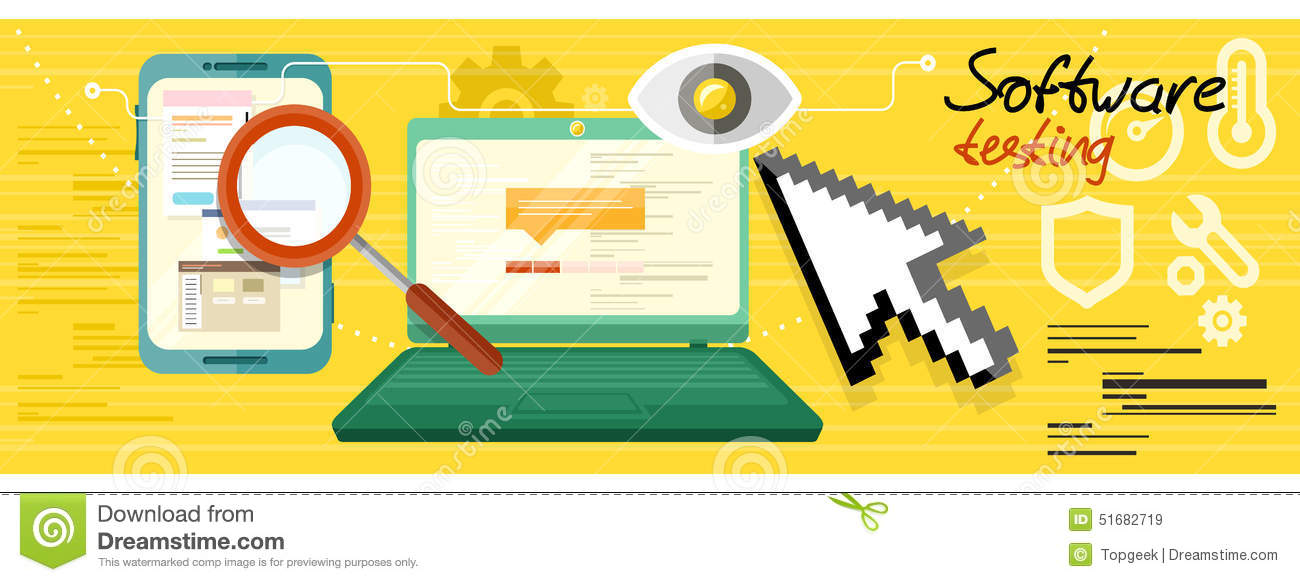 Software testing concept stock vector image 51682719 Vector image software