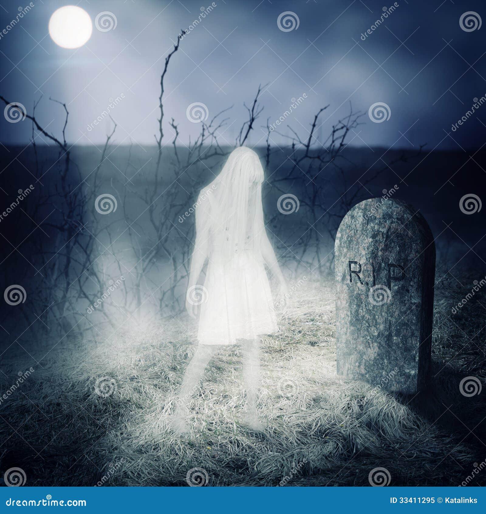 Soggiorno del fantasma della donna bianca sulla sua tomba