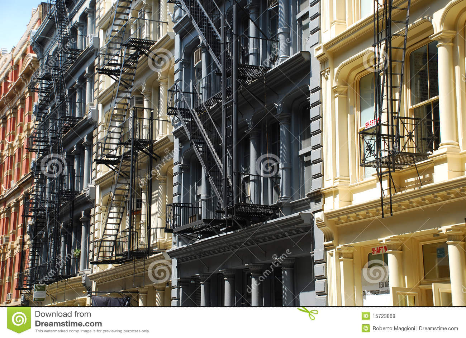 soho architektur new york stockfoto bild von tourist