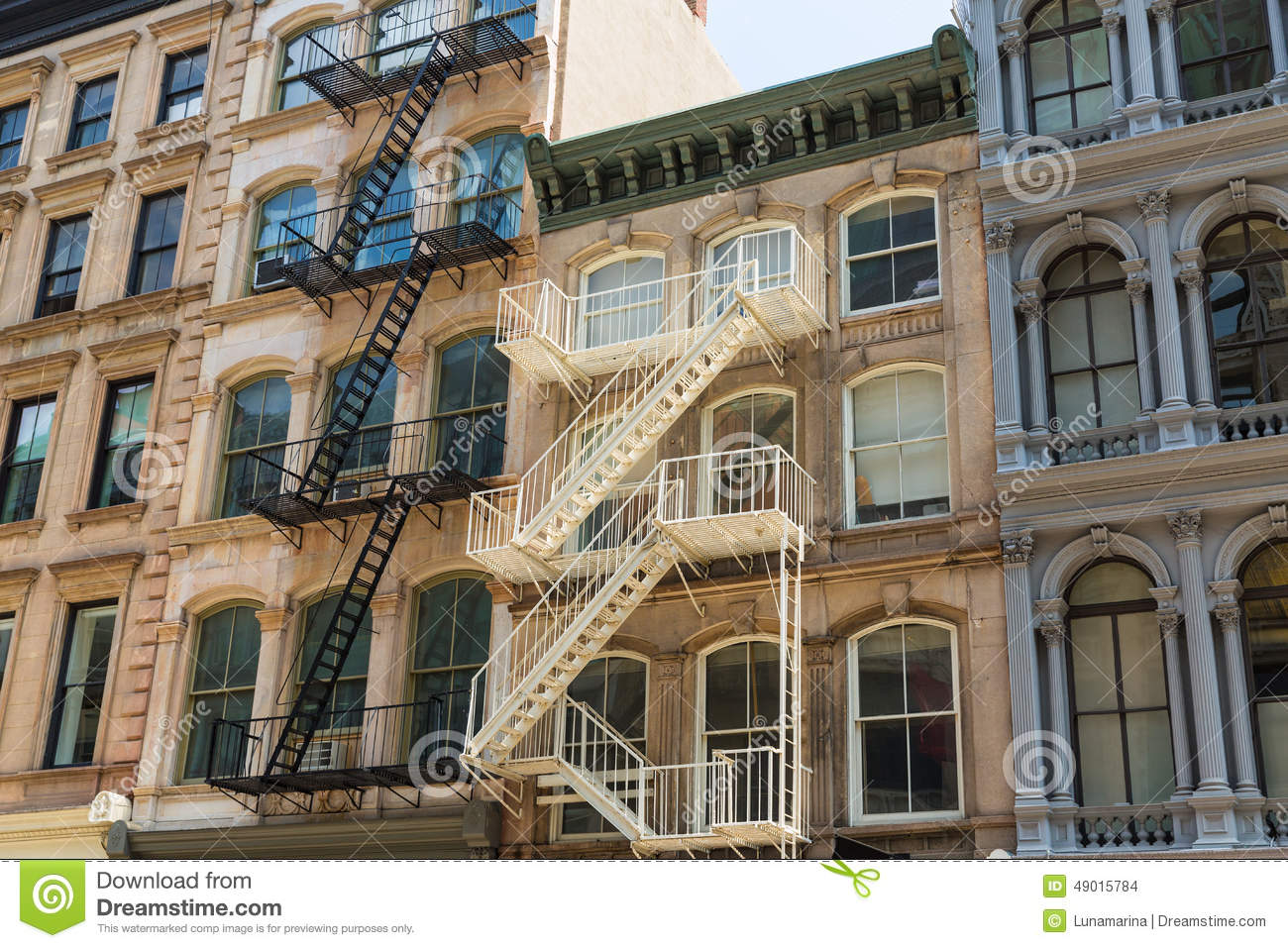 Soho building facades in manhattan new york city stock Building facade pictures