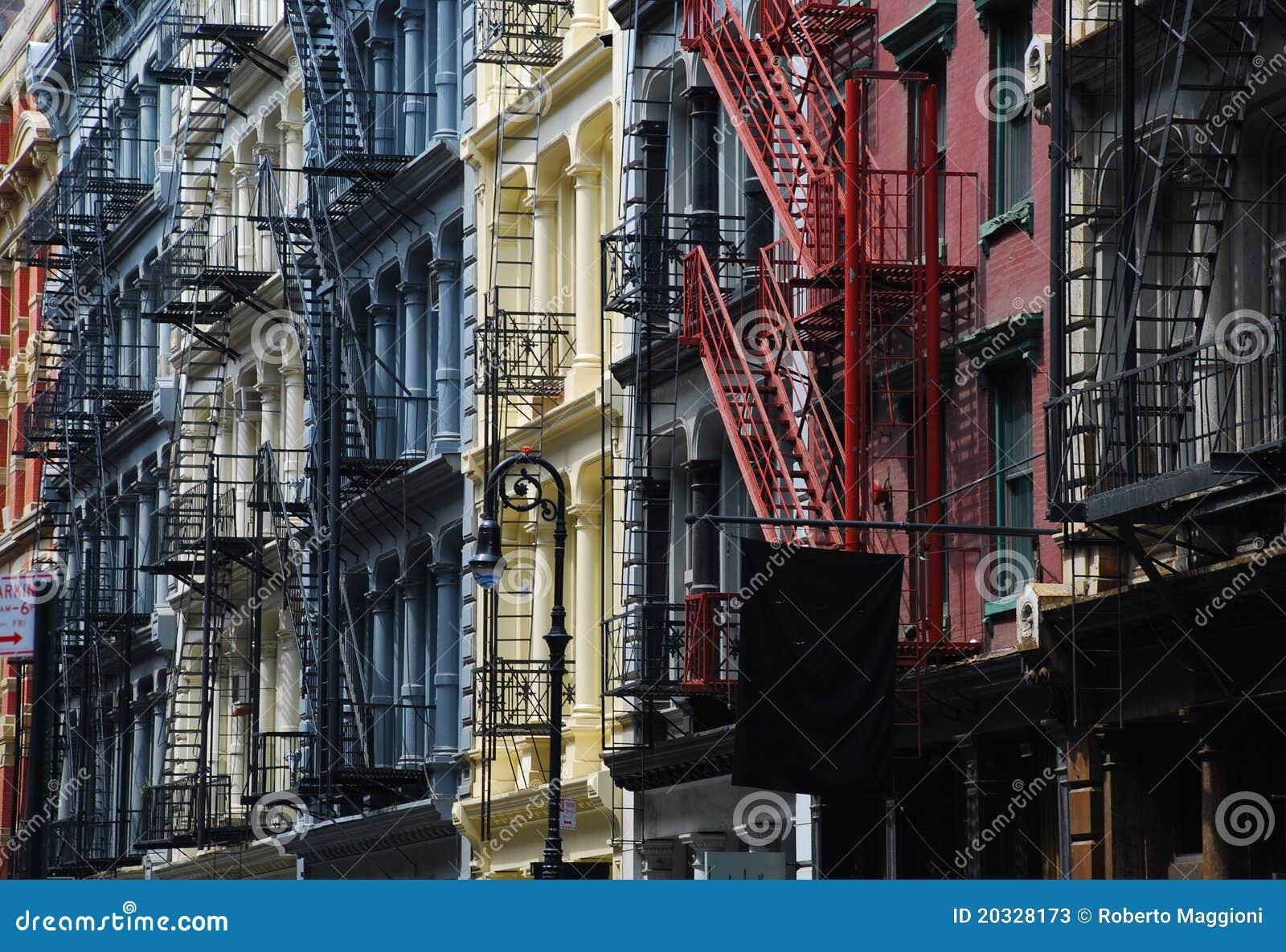 Soho new york architettura del ghisa immagine stock for New york architettura