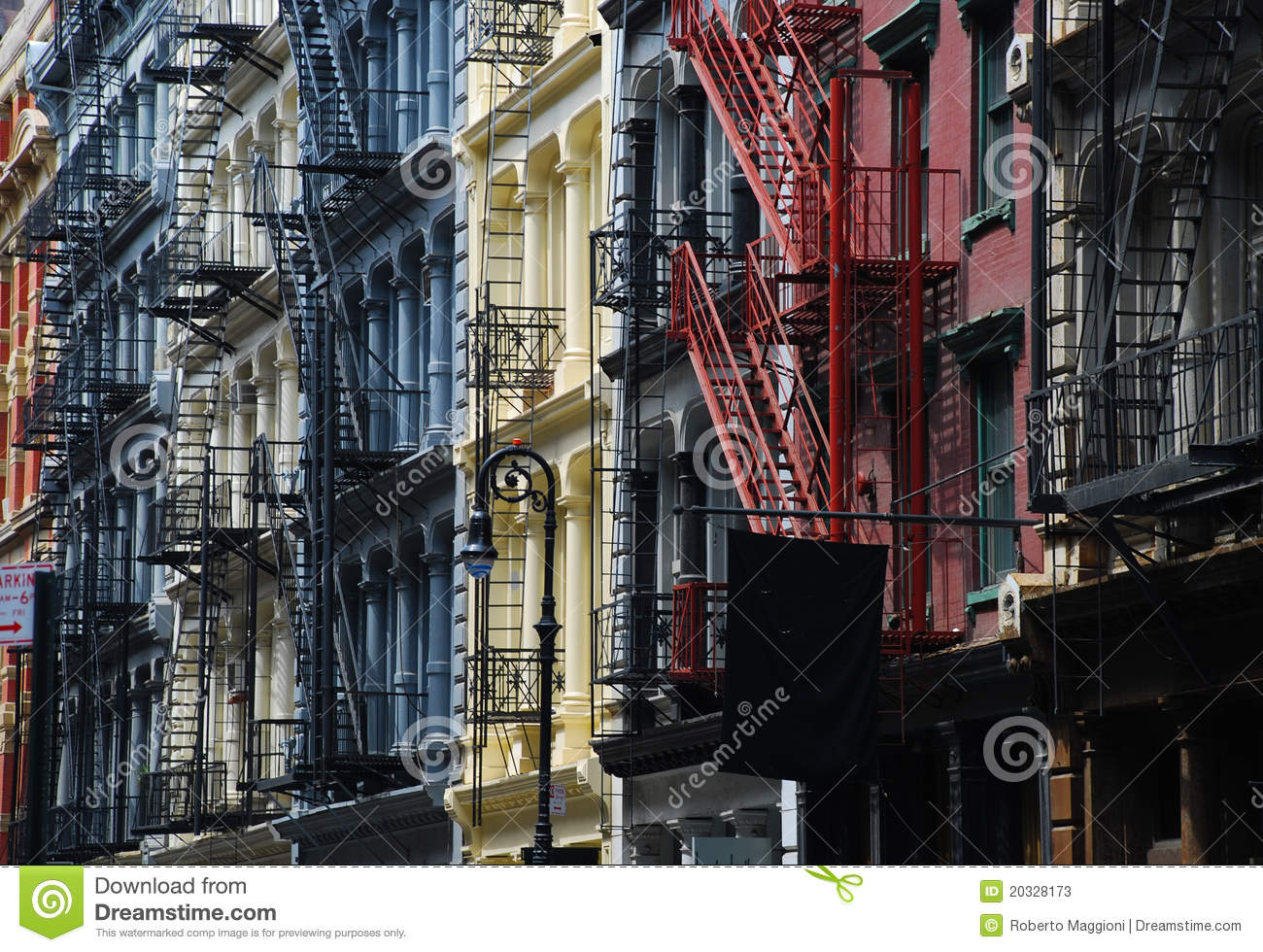Soho, New York. Cast iron architecture