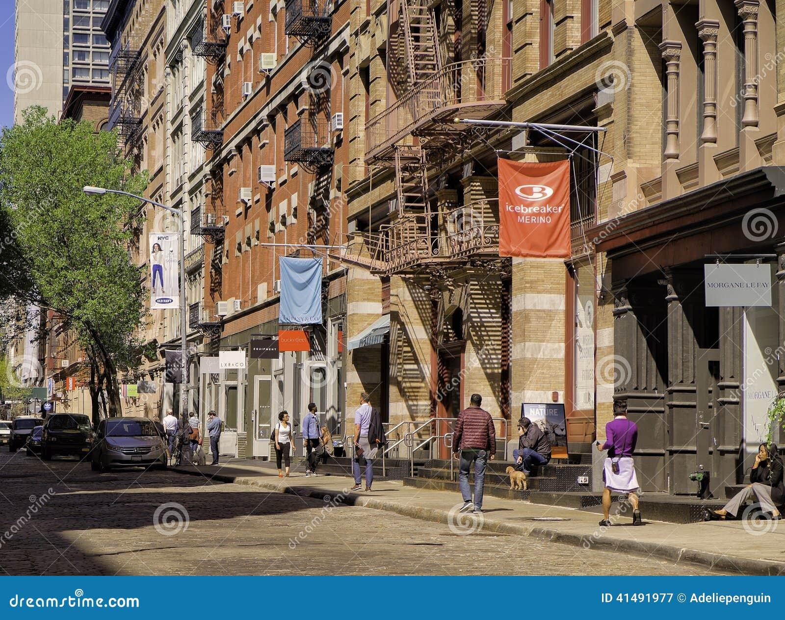 Soho Street, Lower Manhattan, New York