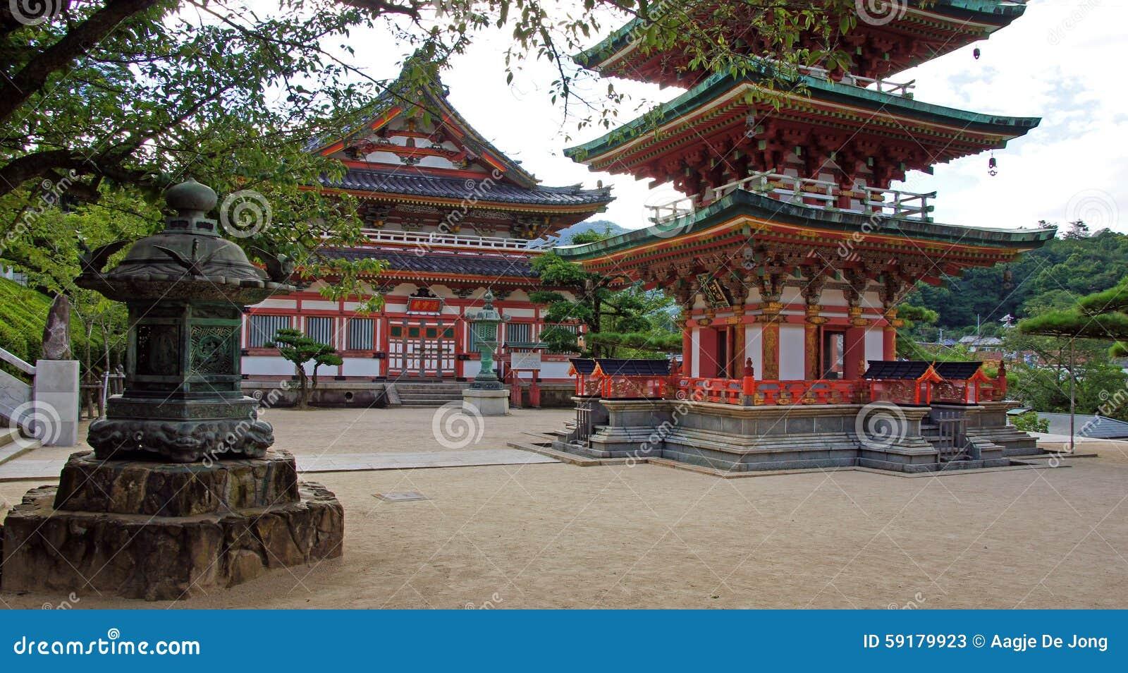 Sohozopaviljoen van Kosanji Temple in Japan