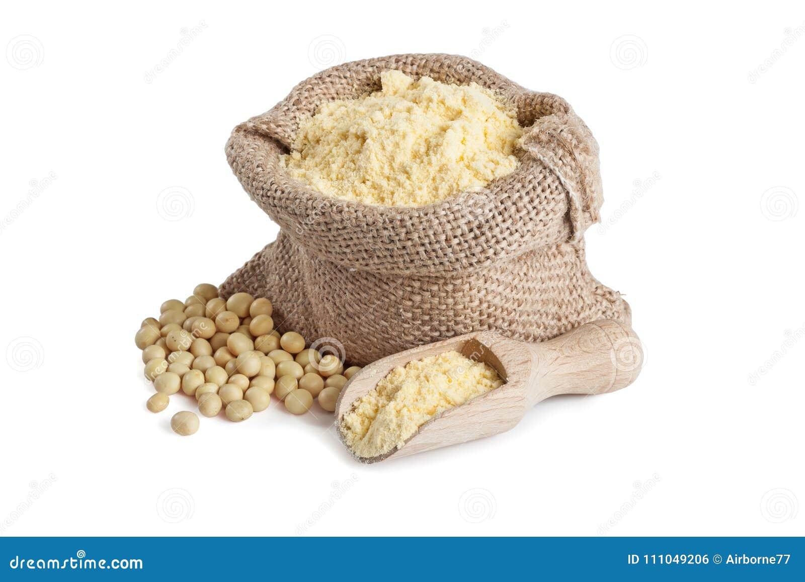 Soi mąka w małej torbie