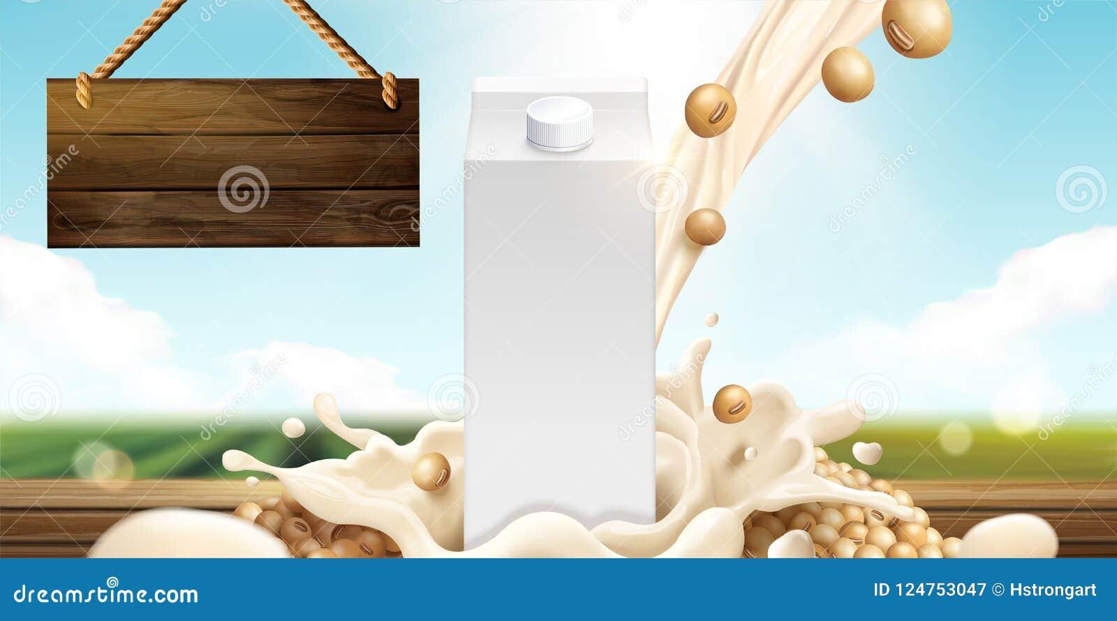 Soi mleka szablon