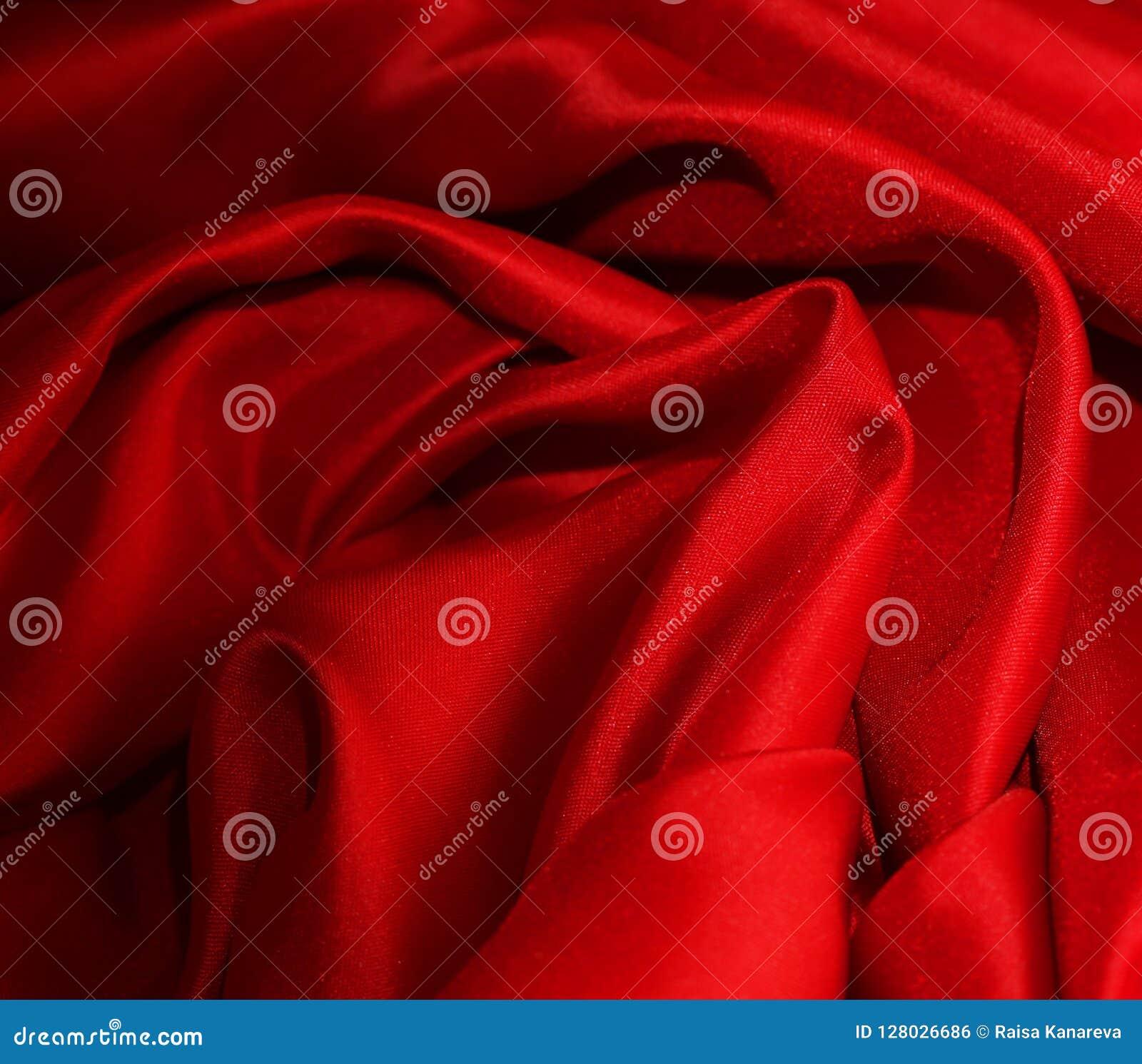 Soie rouge élégante lisse