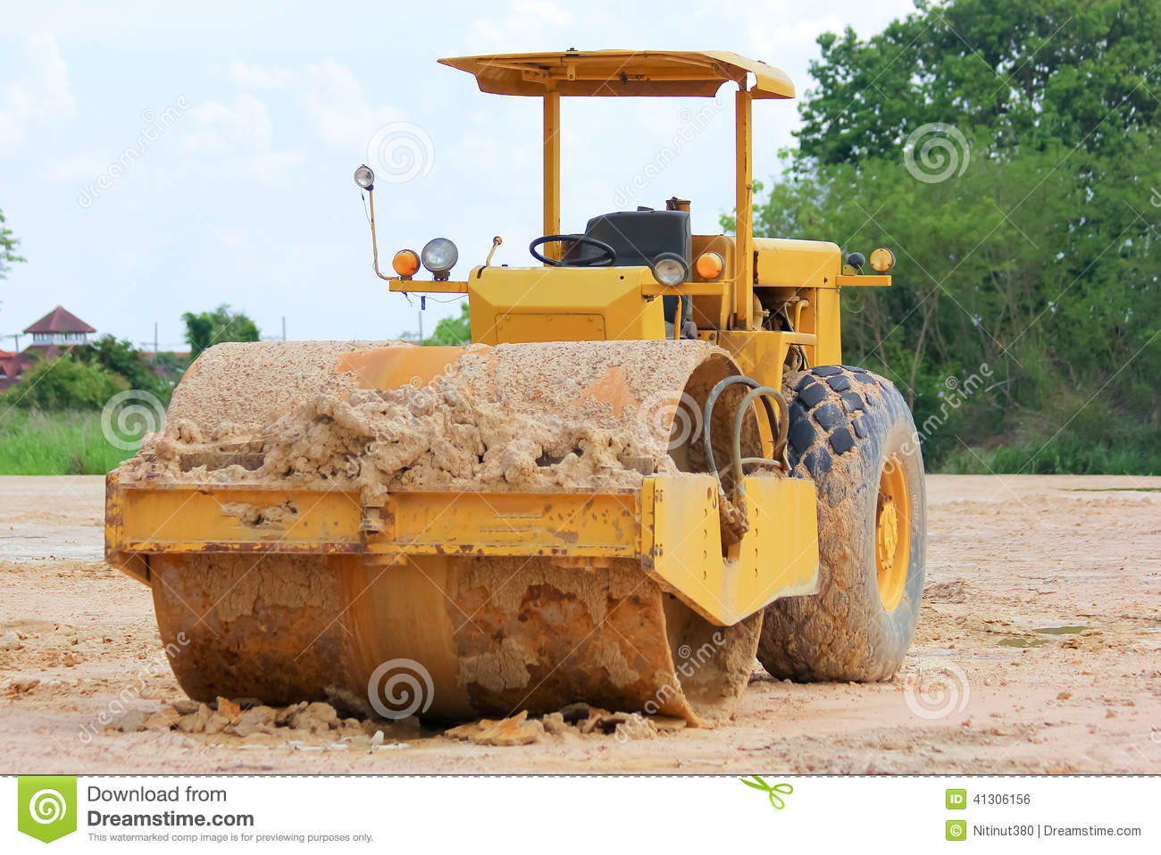 Soil compaction machine stock photo image of roll for Soil compaction