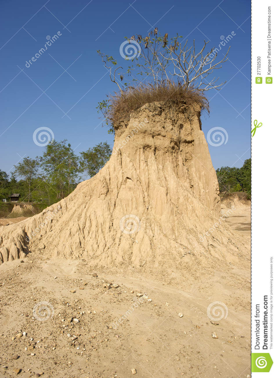 Soil Erosion Of Rain And Wind Stock Photo - Image of cones ...