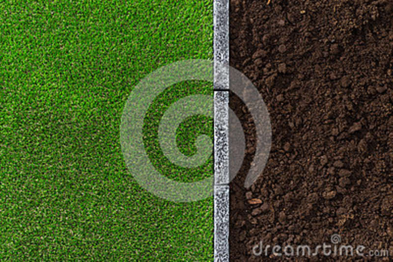 Soil and grass