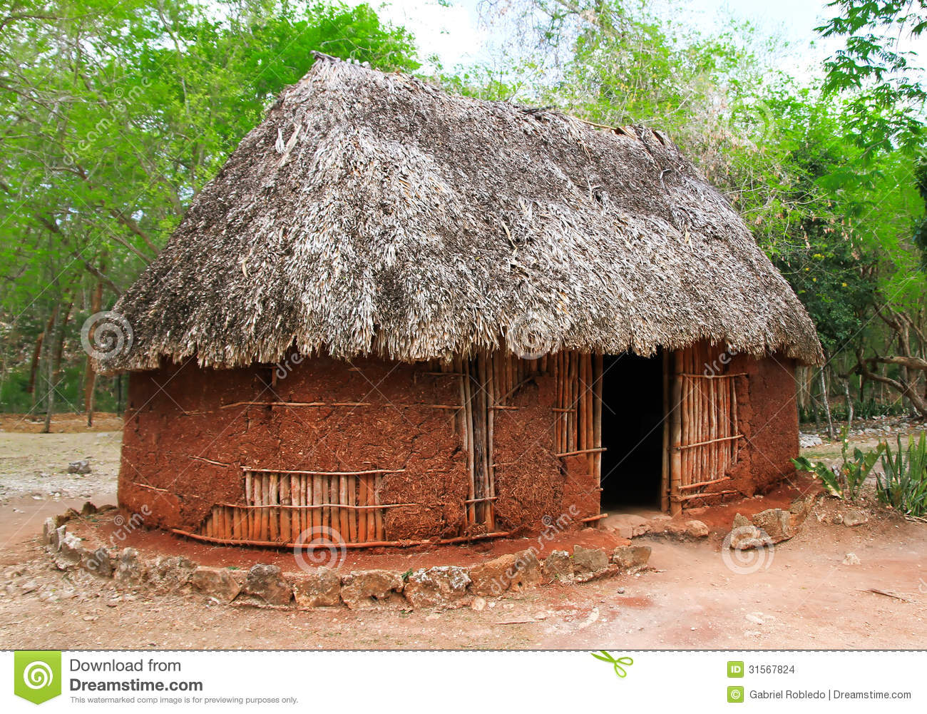 Soil house stock images image 31567824 for House plans hut