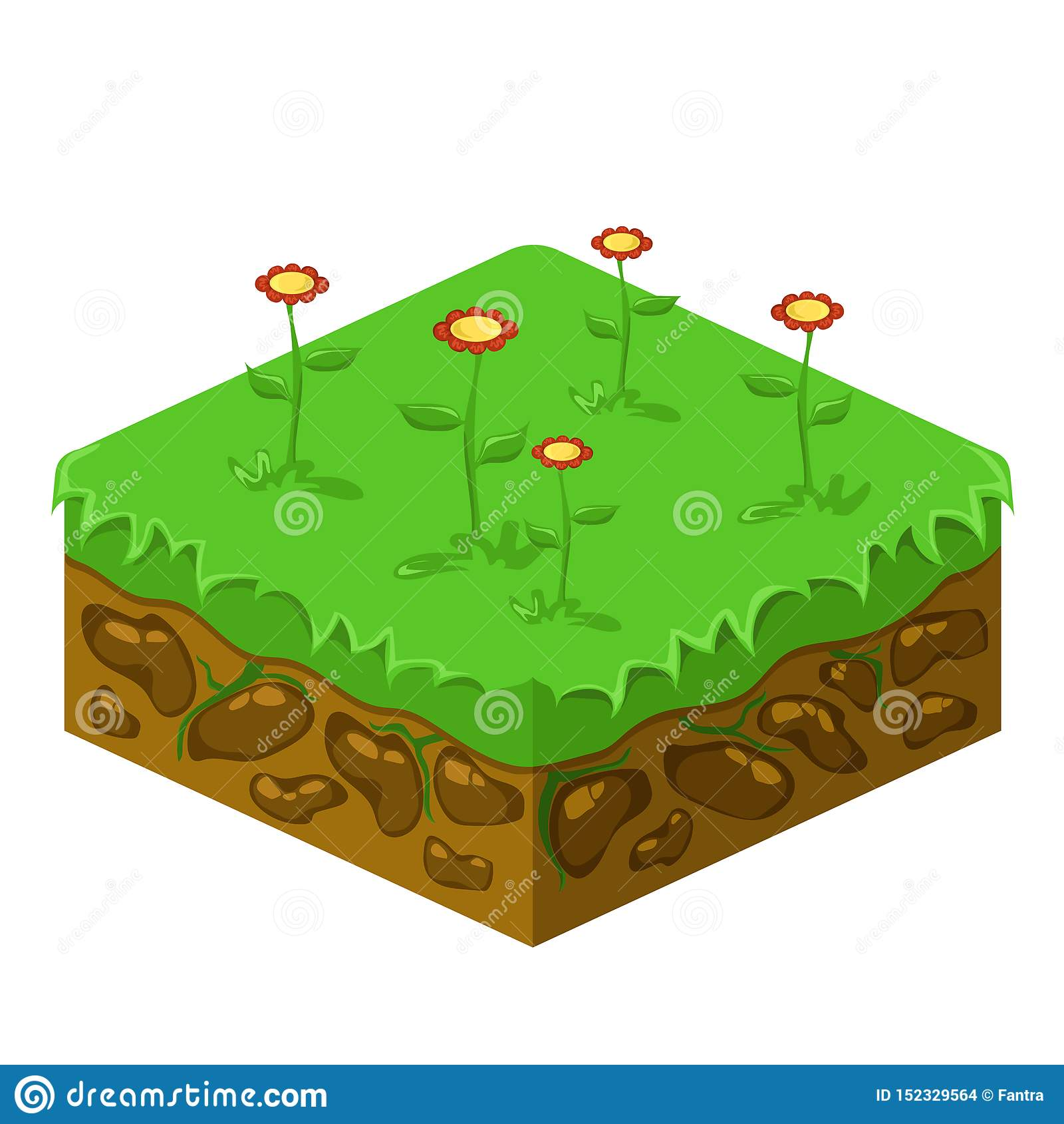 Soil Layers Vector Isometric Image Stock Vector ...