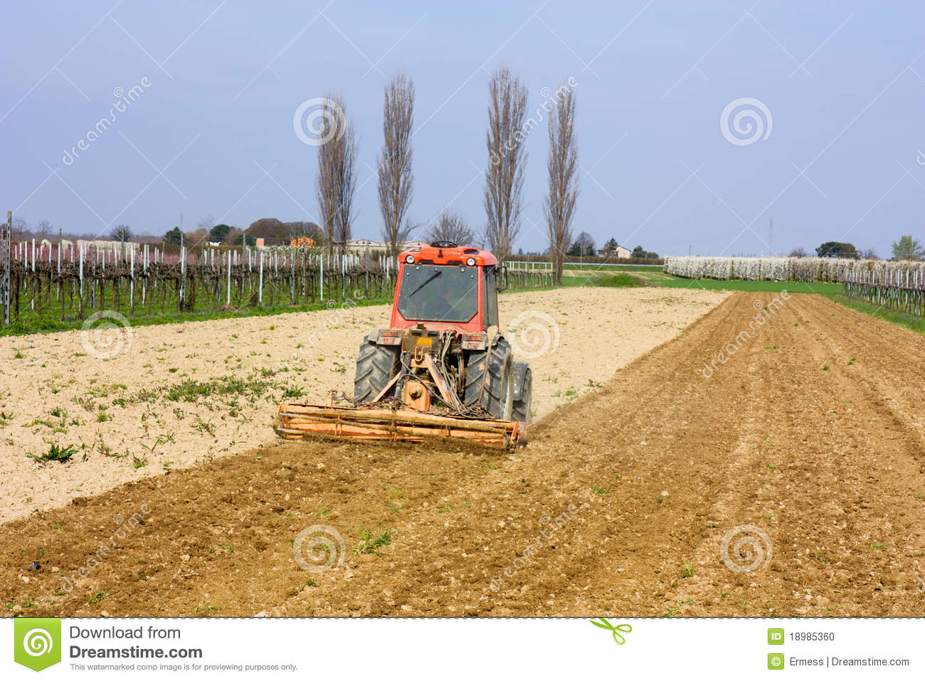 soil preparation stock photo image 18985360
