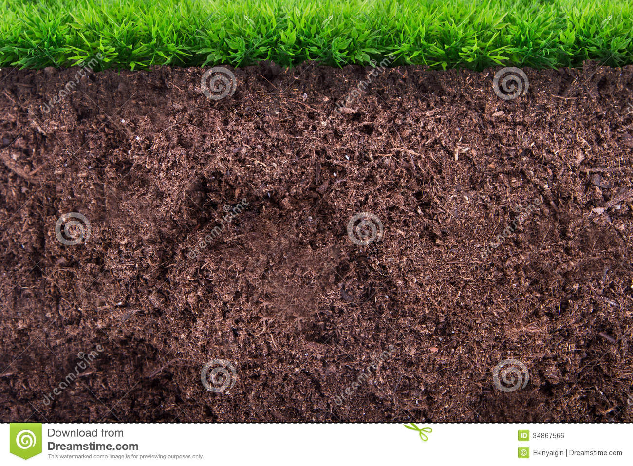 Soil Bag Clipart Soil Under Grass Royal...