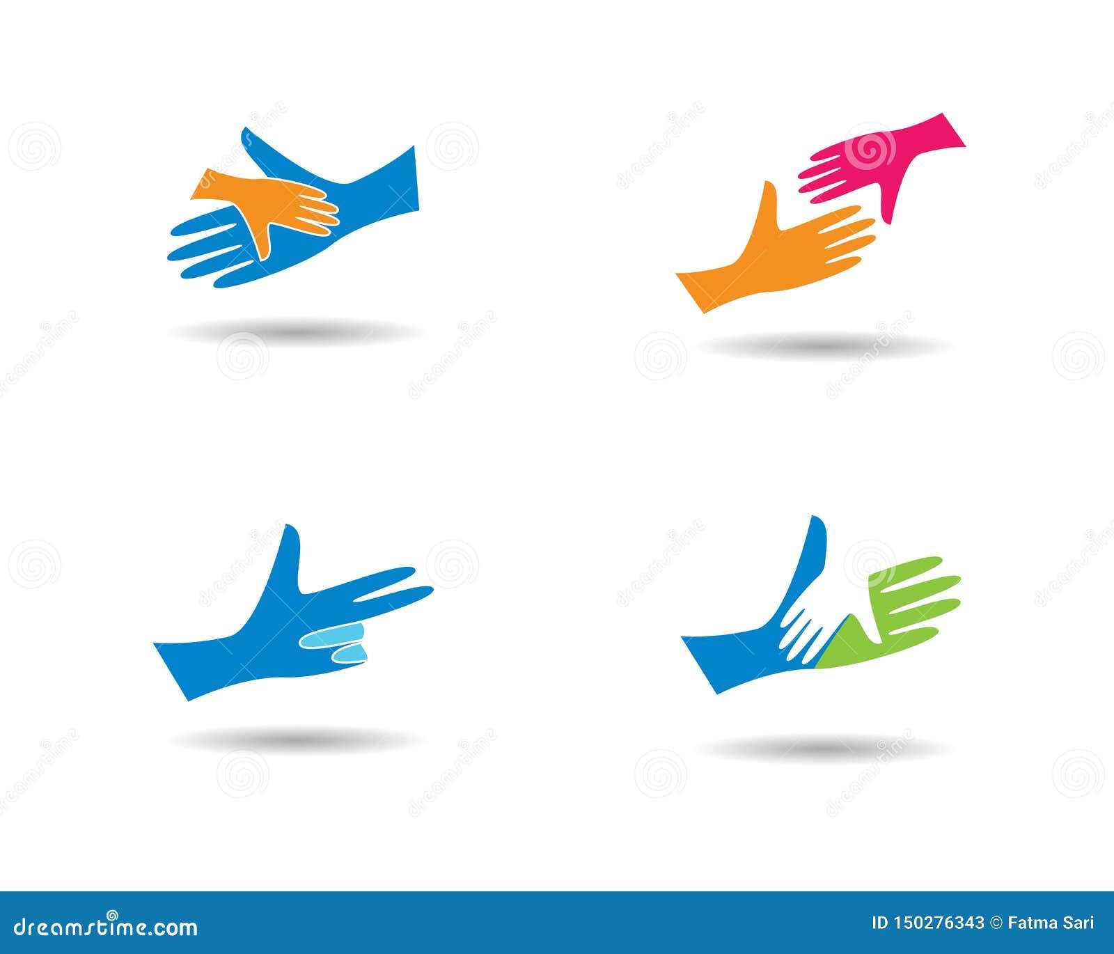 Soin Logo Template de main