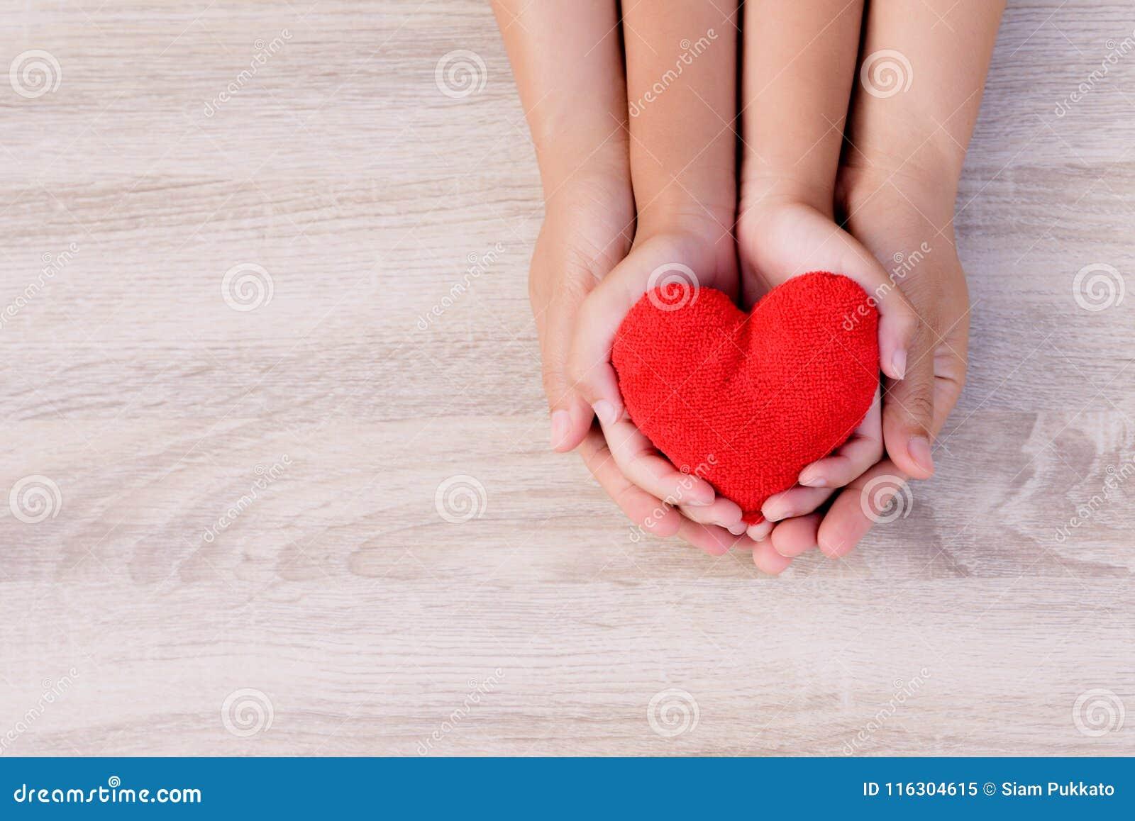 Soins de santé, amour, donation d organe, assurance de famille et concept de CSR