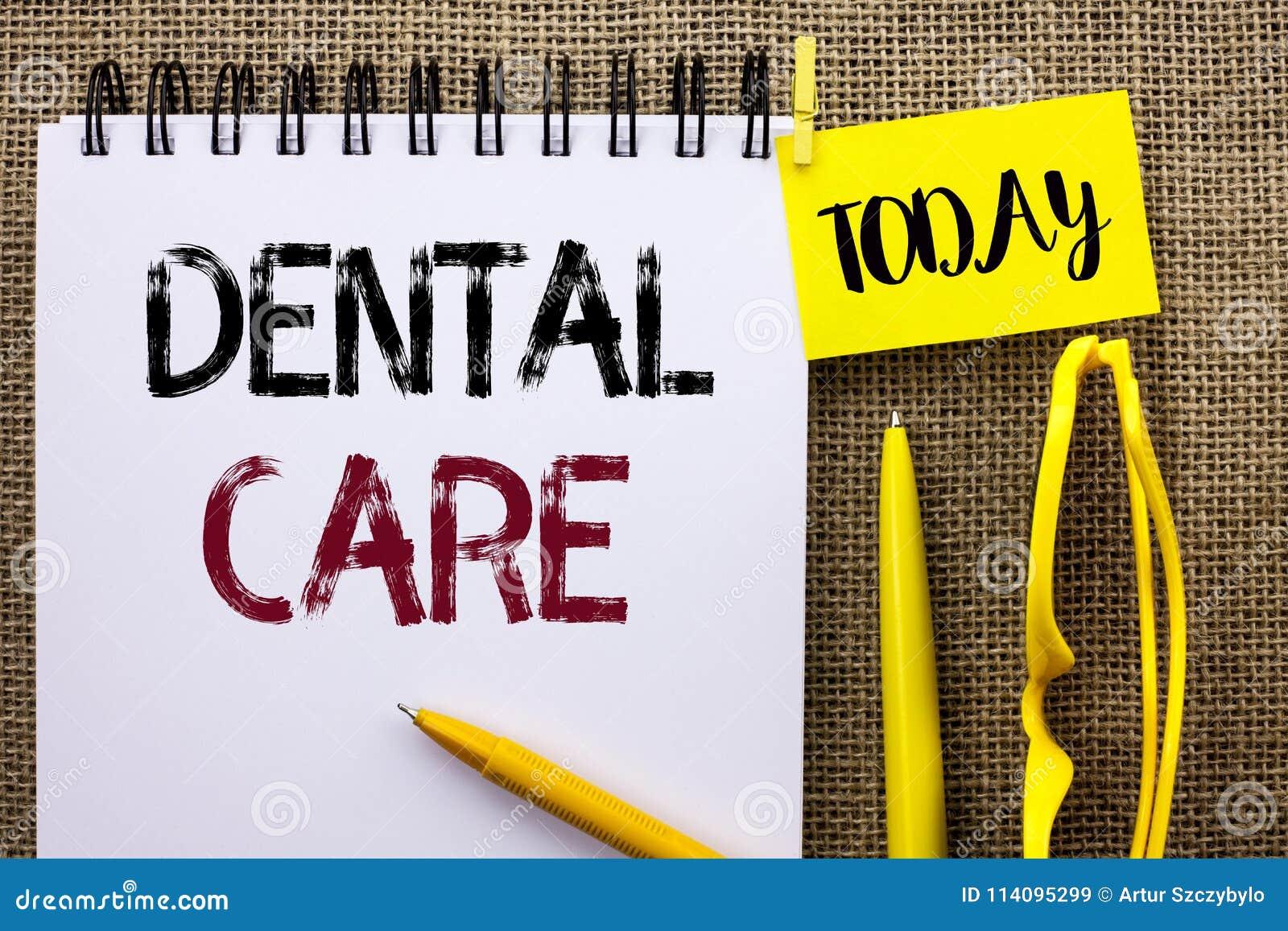 Soins dentaires des textes d écriture Concept signifiant des règlements de soin de protection d hygiène de sécurité de bouche ora