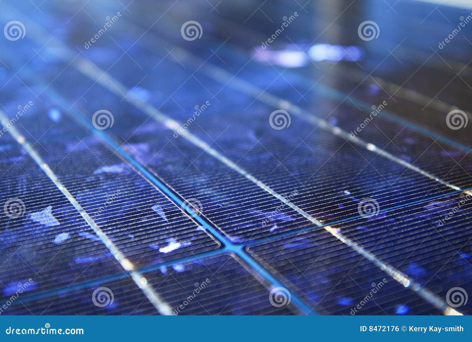 Sol- abstrakt blå panel