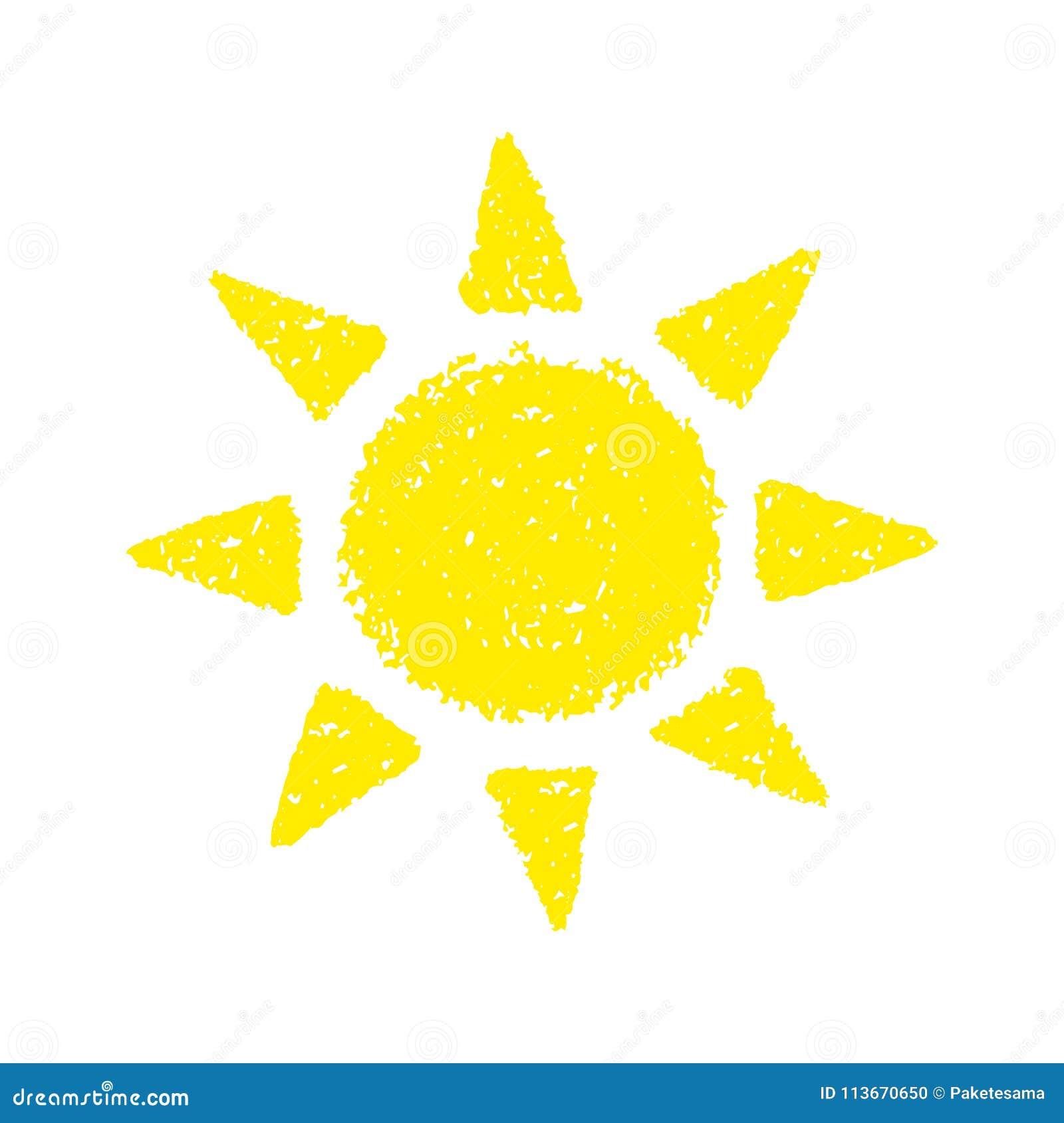 Sol desenhado mão