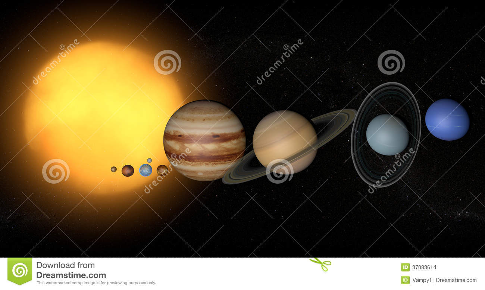 Ilustração Gratis Espaço Todos Os Universo Cosmos: Sol Do Universo Do Espaço Dos Planetas Do Sistema Solar
