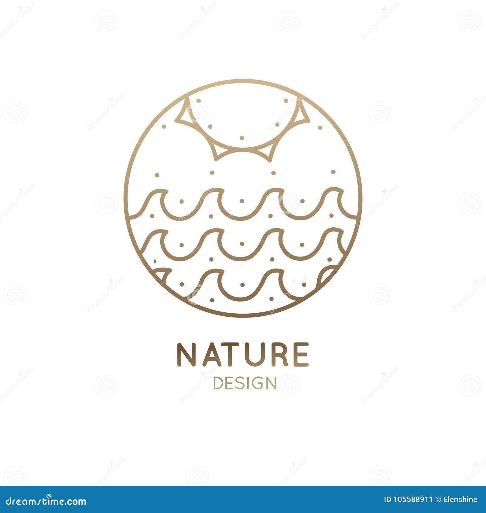 Sol e mar do logotipo
