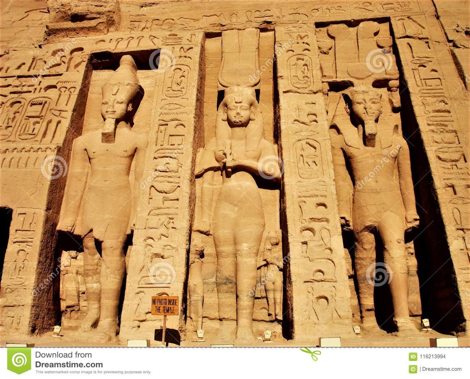 Sol Egipto de las estatuas de Abu Simbel Temple