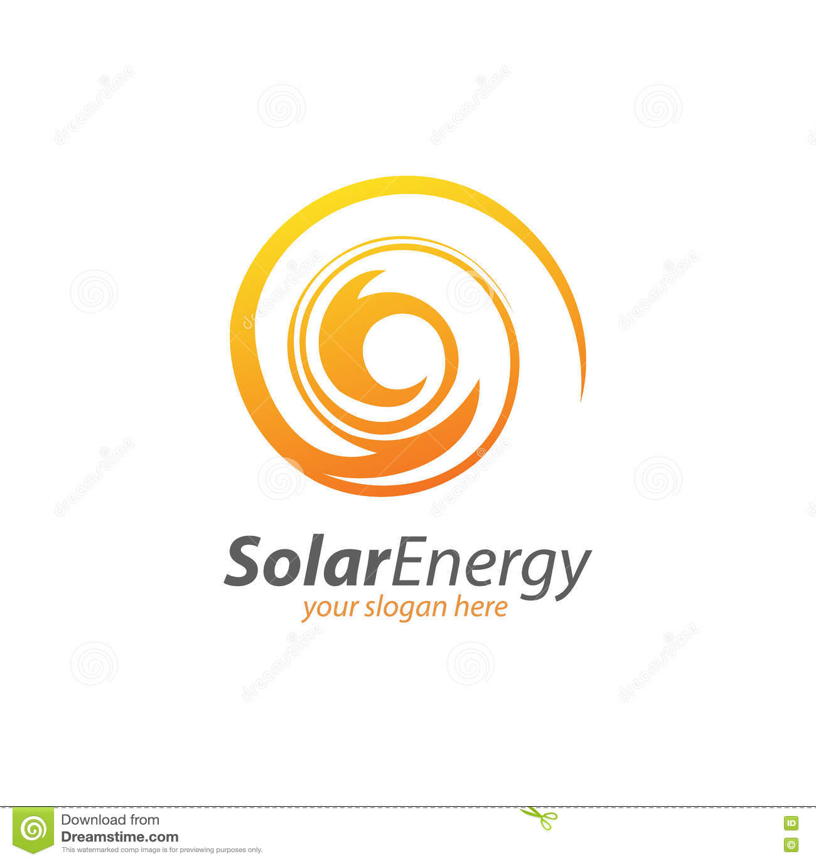 Sol- energi för abstrakt cirkel och förnybar teknologilogo