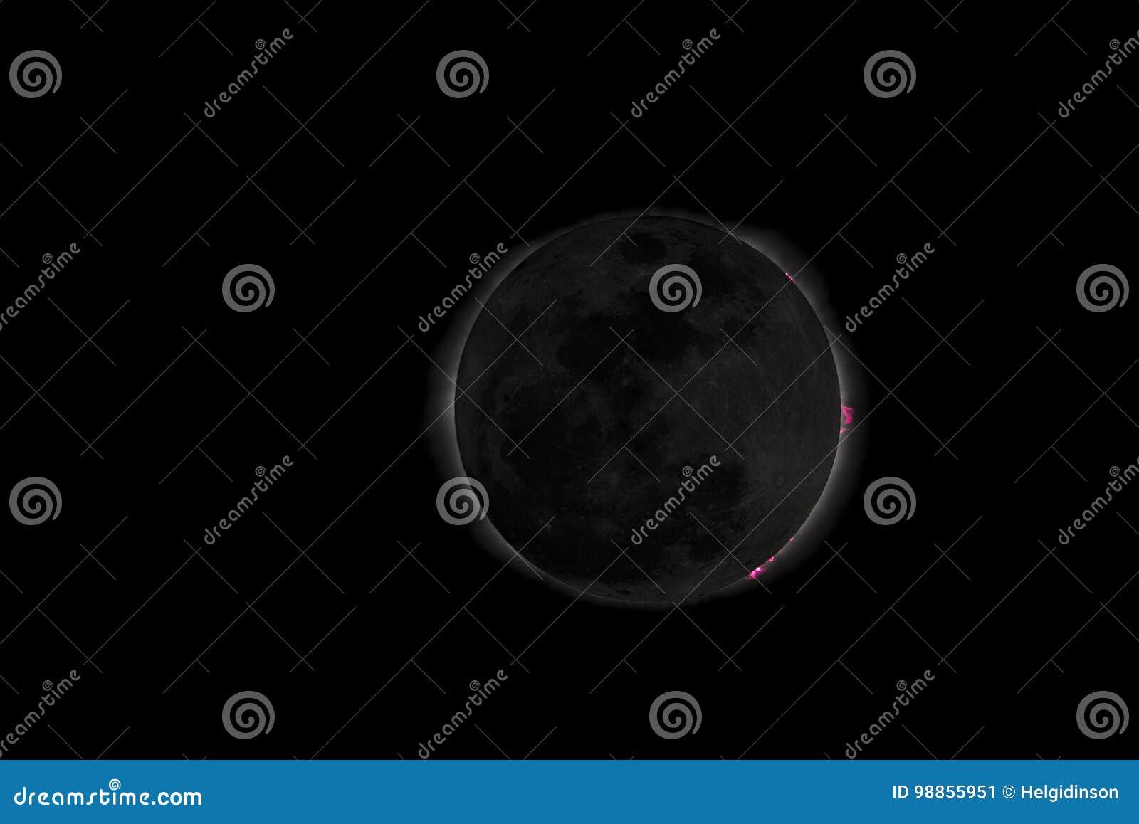 Sol- illustration för förmörkelse för bakgrundsblackdesign