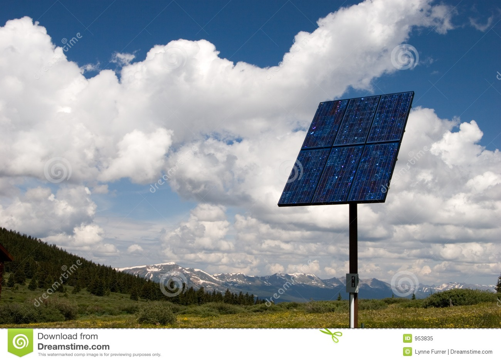 Sol- sky för panel ii