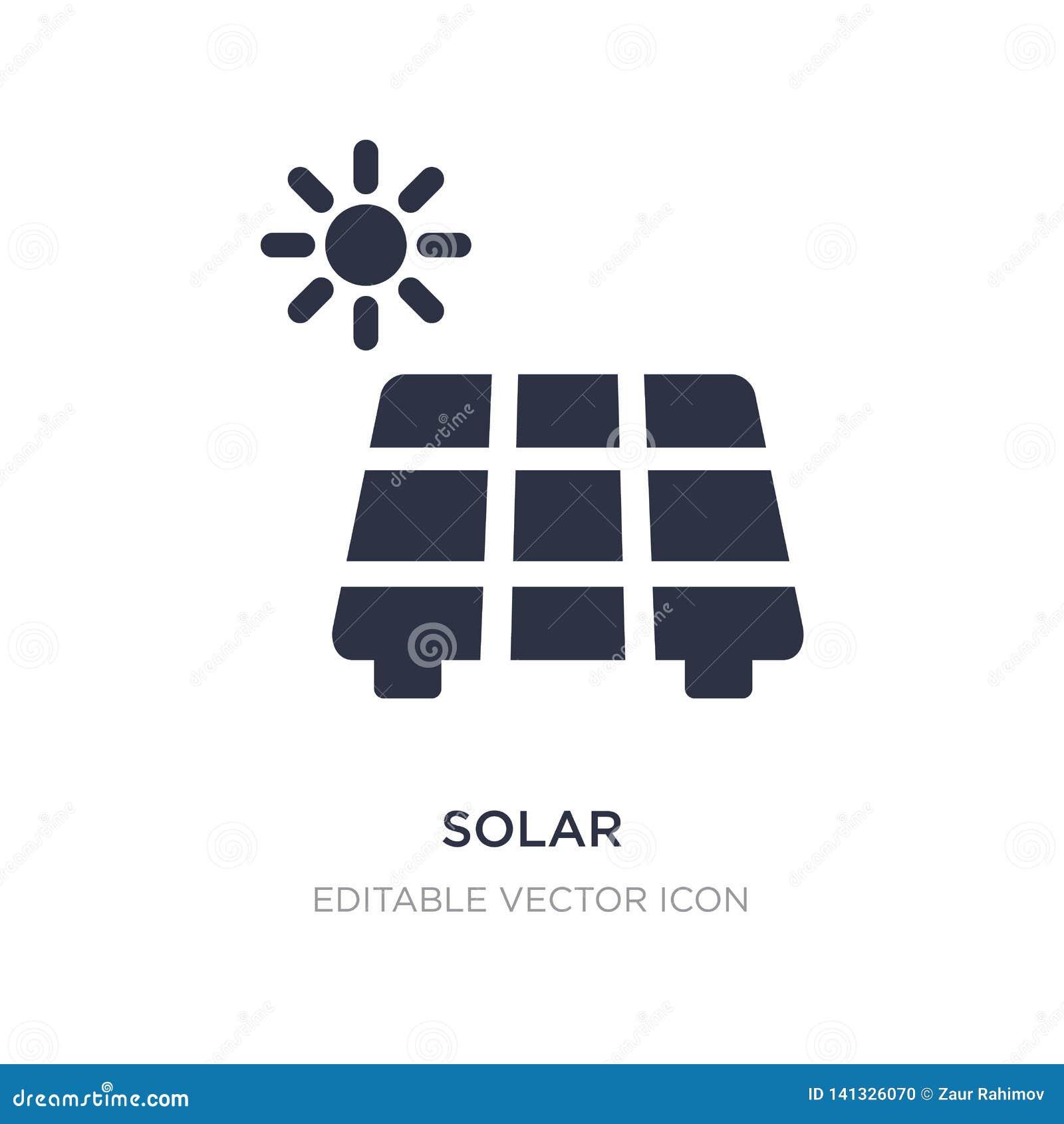 Sol- symbol på vit bakgrund Enkel beståndsdelillustration från naturbegrepp