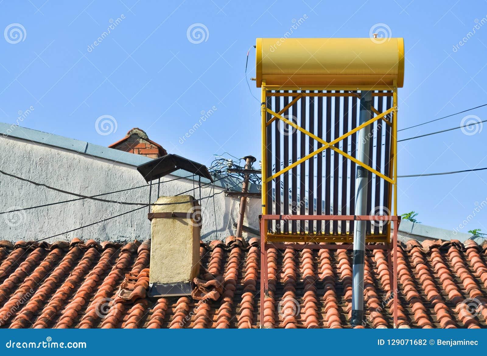 Solar boiler on the roof
