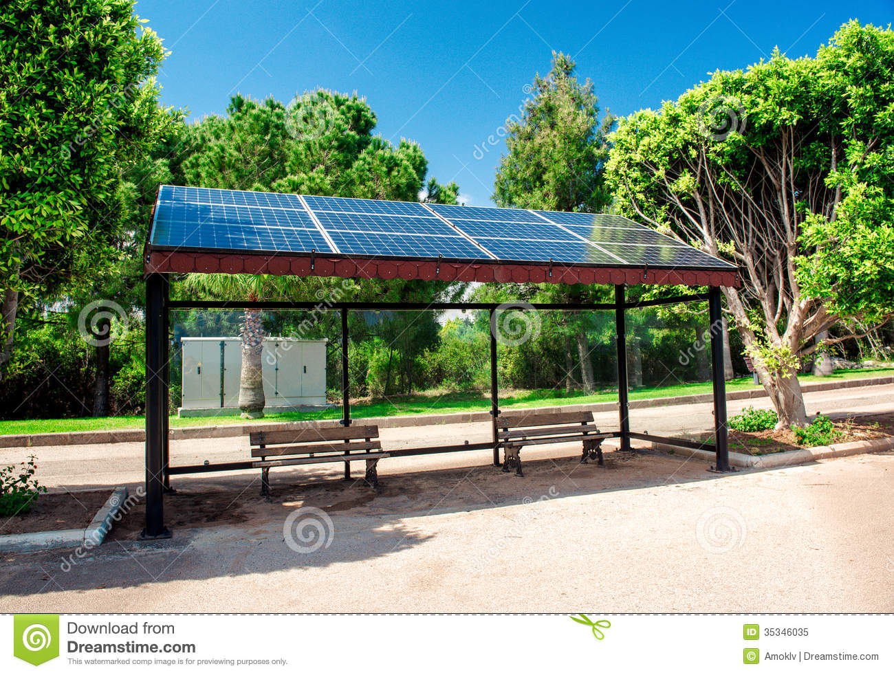 Solar Bus Stop Royalty Free Stock Photo - Image: 35346035