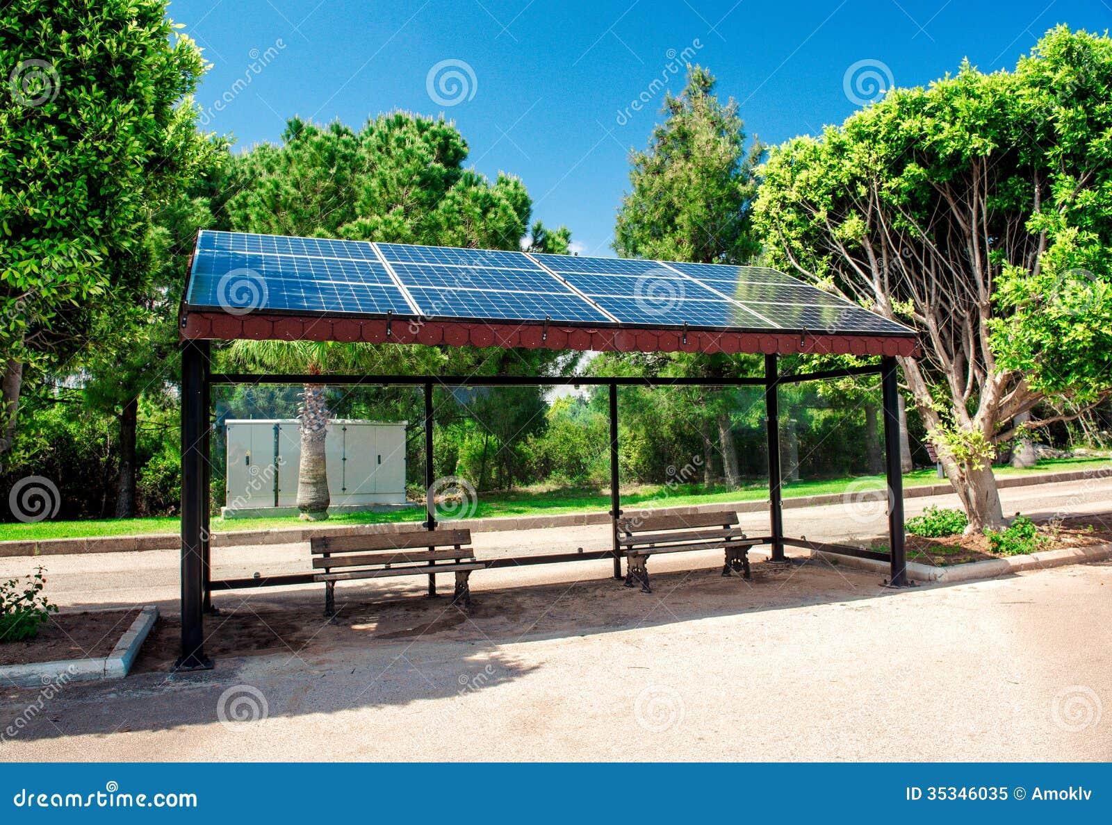 Solar Bus Stop Royalty Free Stock Photo - Image: 35346035