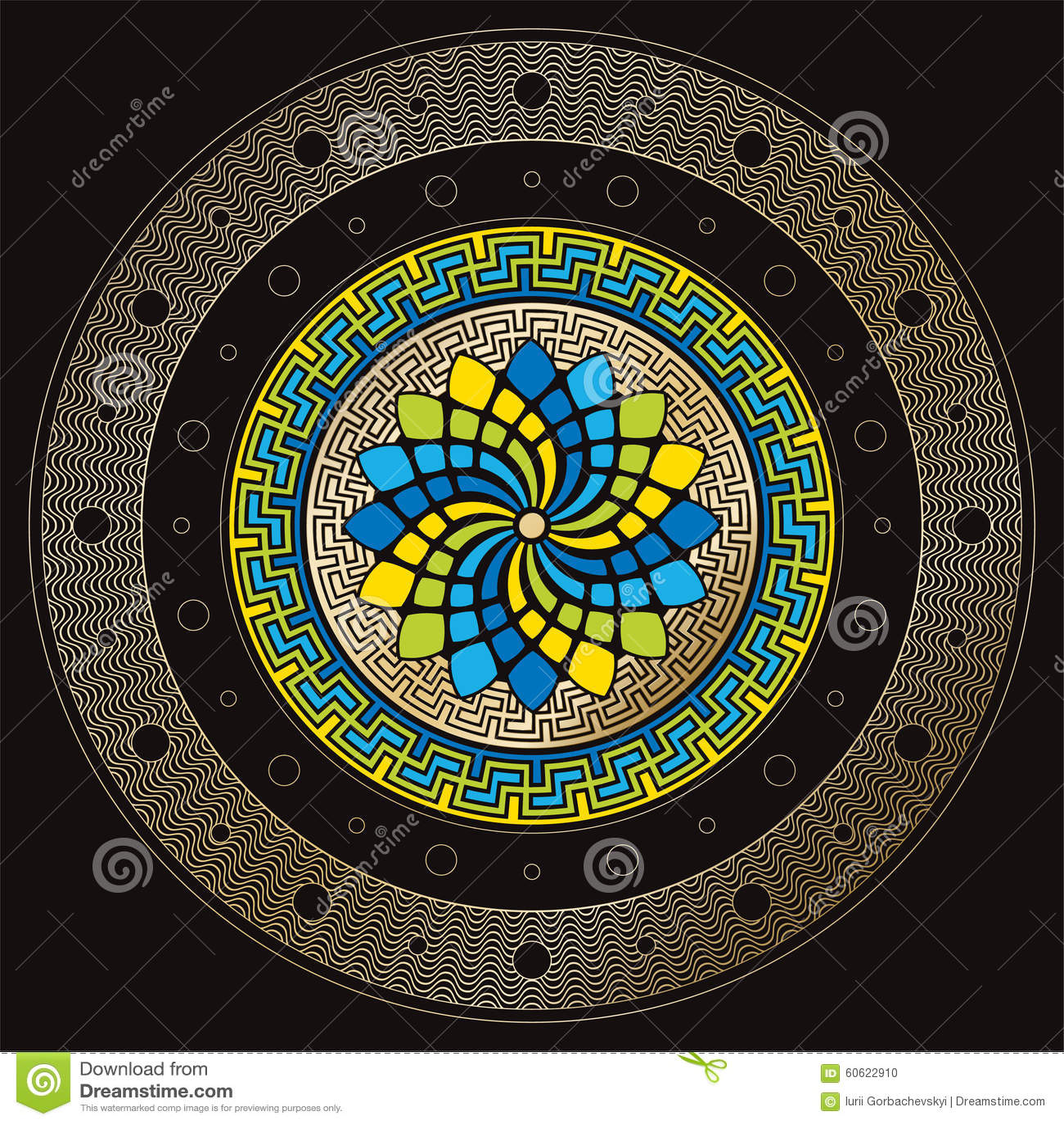 Solar Calendar stock vector  Illustration of circle, harmony