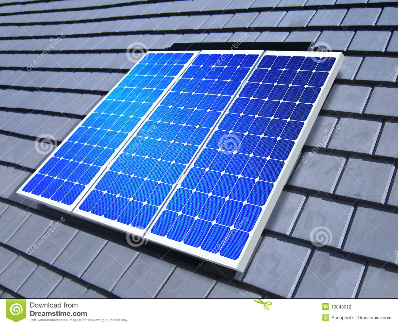 Solar Cell Array On Roof Stock Photography Image 19840012