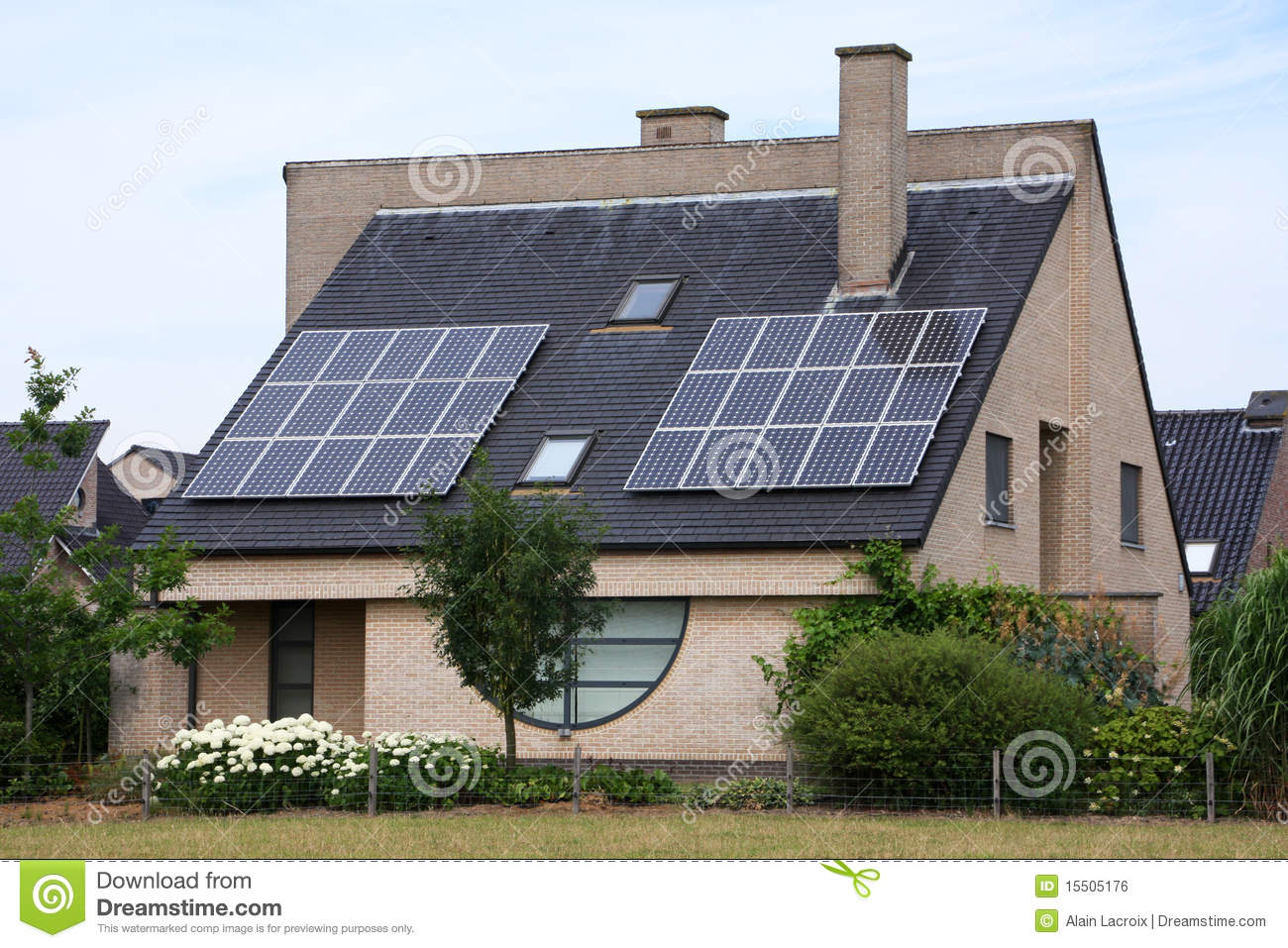 Solar Cell House Stock Photo Image Of Environment Energy