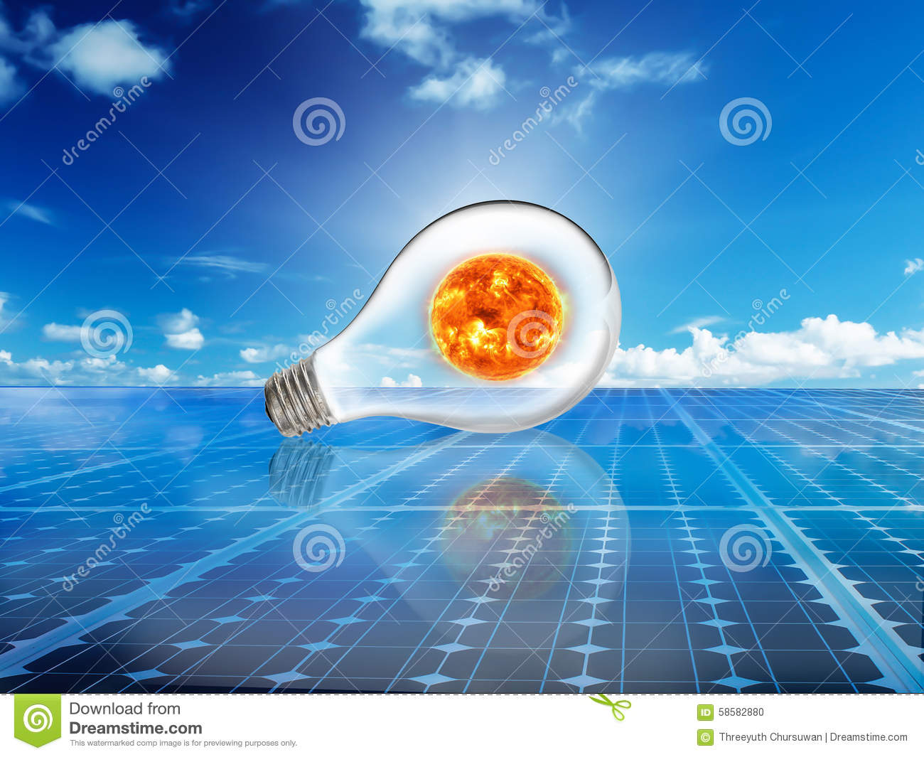solar cell power energy grid system in idea concept backgrou