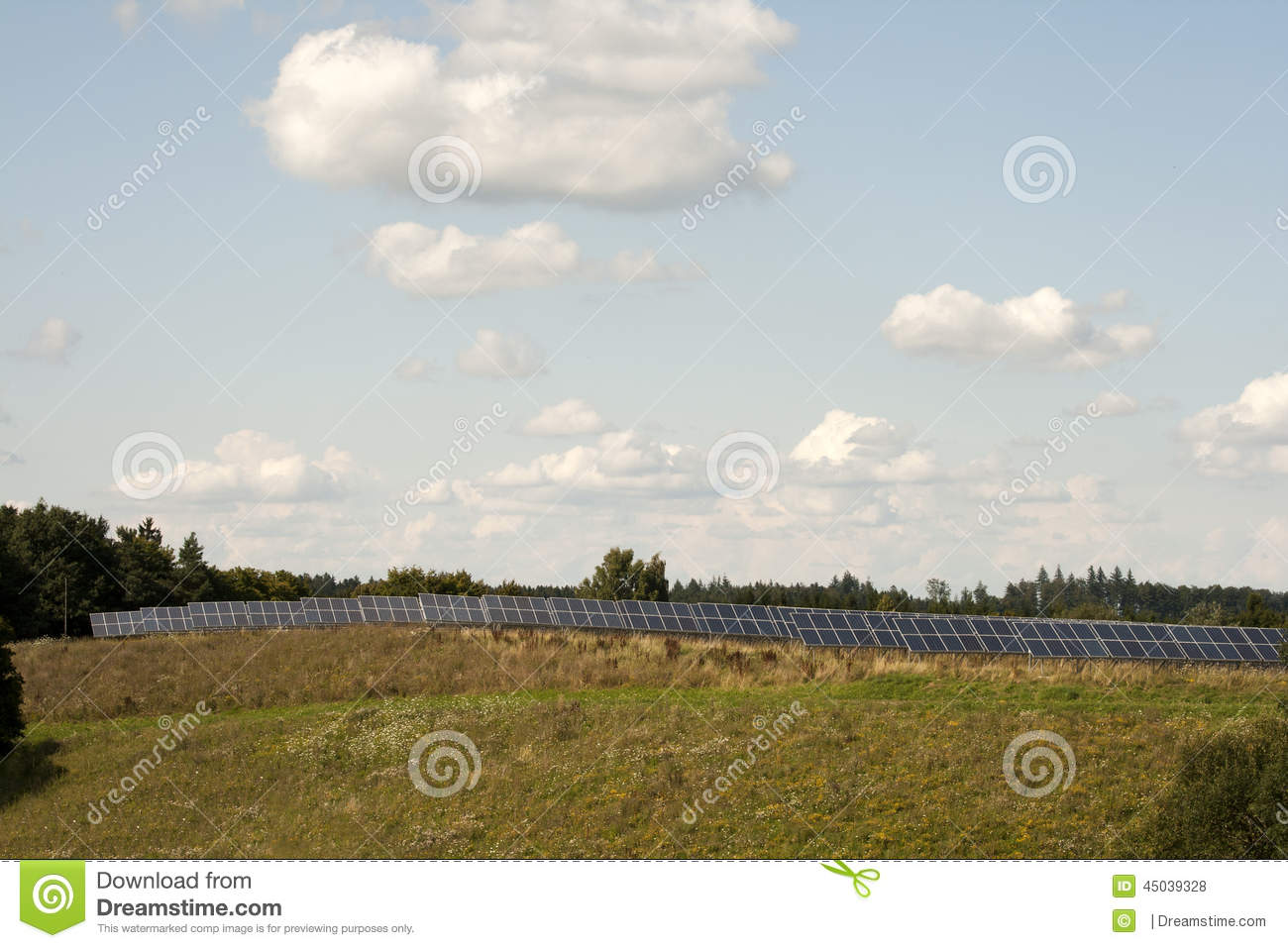 Solar cells of a photovoltaic system to generate energy through solar ...