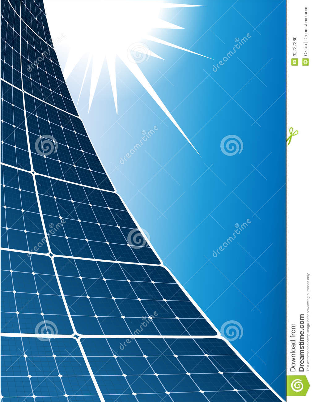 Solar Collector Background Stock Photo Image 32737380